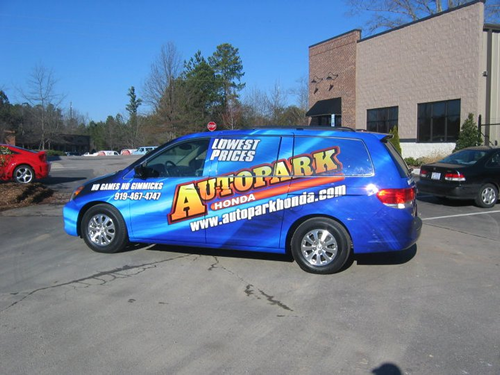 Custom vehicle wrap for Cary, NC businesses