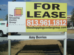For Lease or For Sale signs at Sign Edge