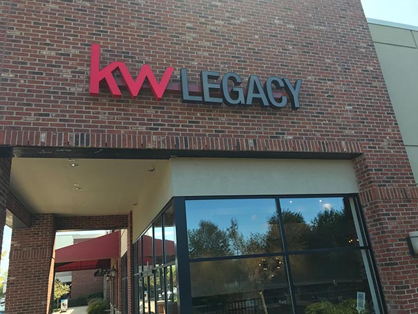 KW Legacy Building Sign