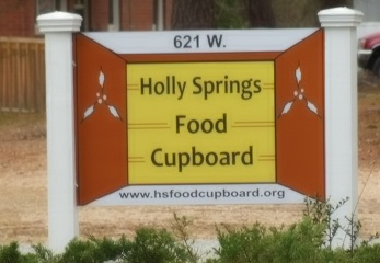 Post and Panel Sign for the Holly Springs Food Cupboard