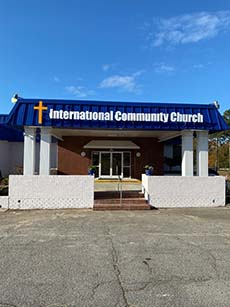 International Community Church - Apex Building Signage