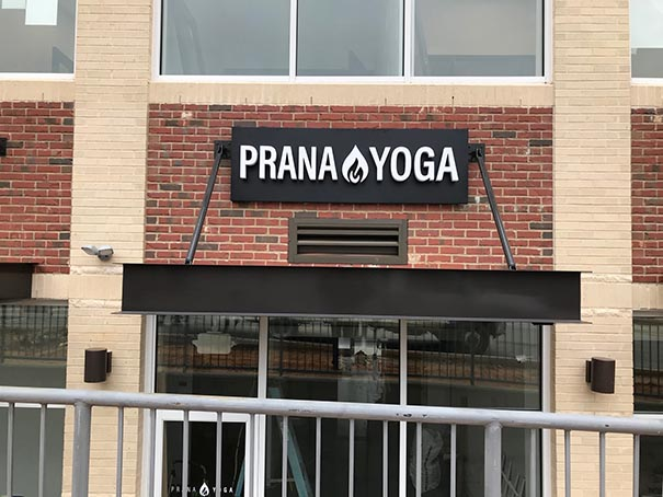 Exterior Business Signs - Prana Yoga