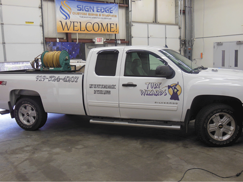 Vehicle Graphics display your business all around the Triangle Area